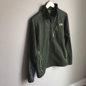 Forest green The North Face jacket